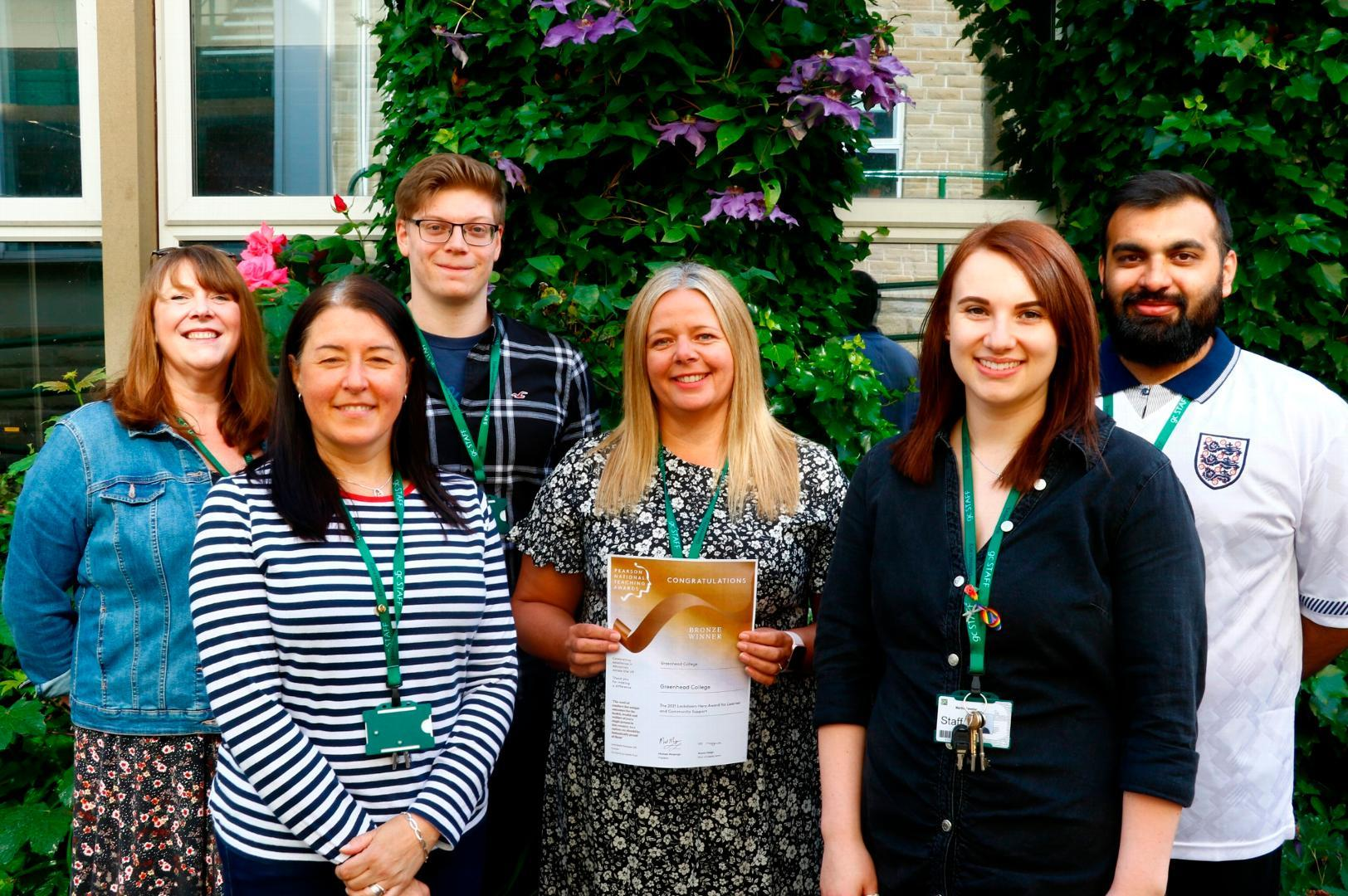 A duo of national award wins recognising Greenhead College's student support!