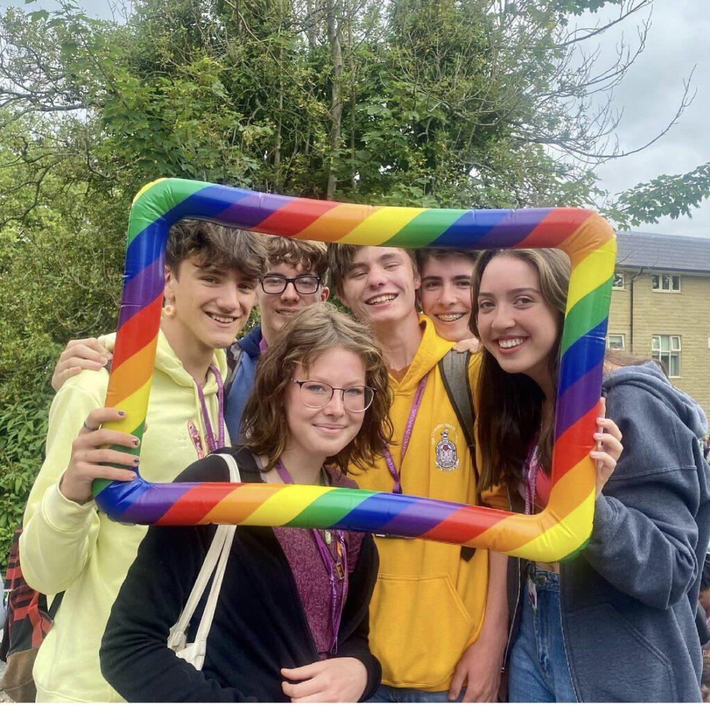 Students celebrating Pride Week