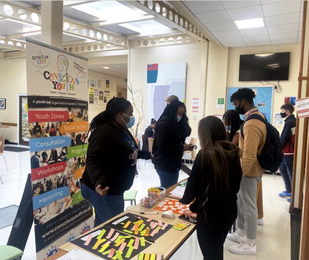 Conscious Youth visit GC to promote youth opportunities for students